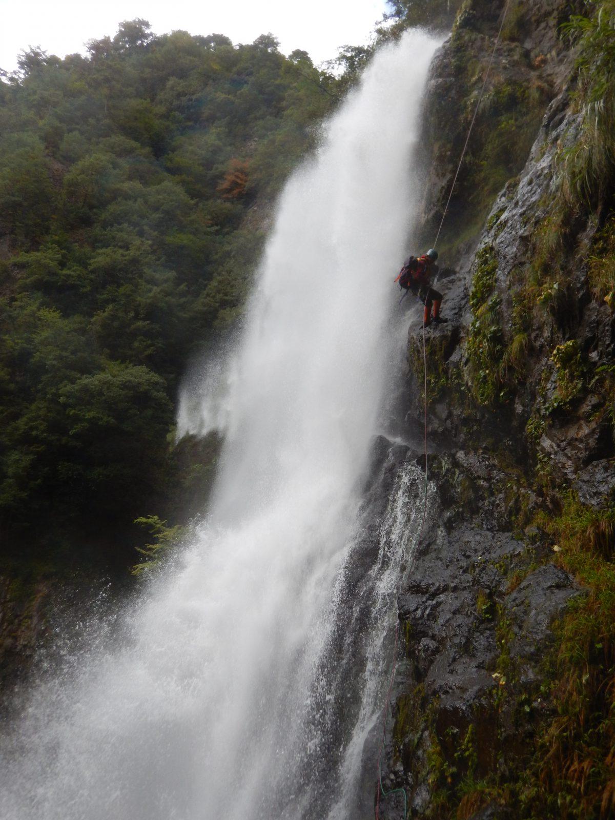 不動七重の滝 キャニオニング