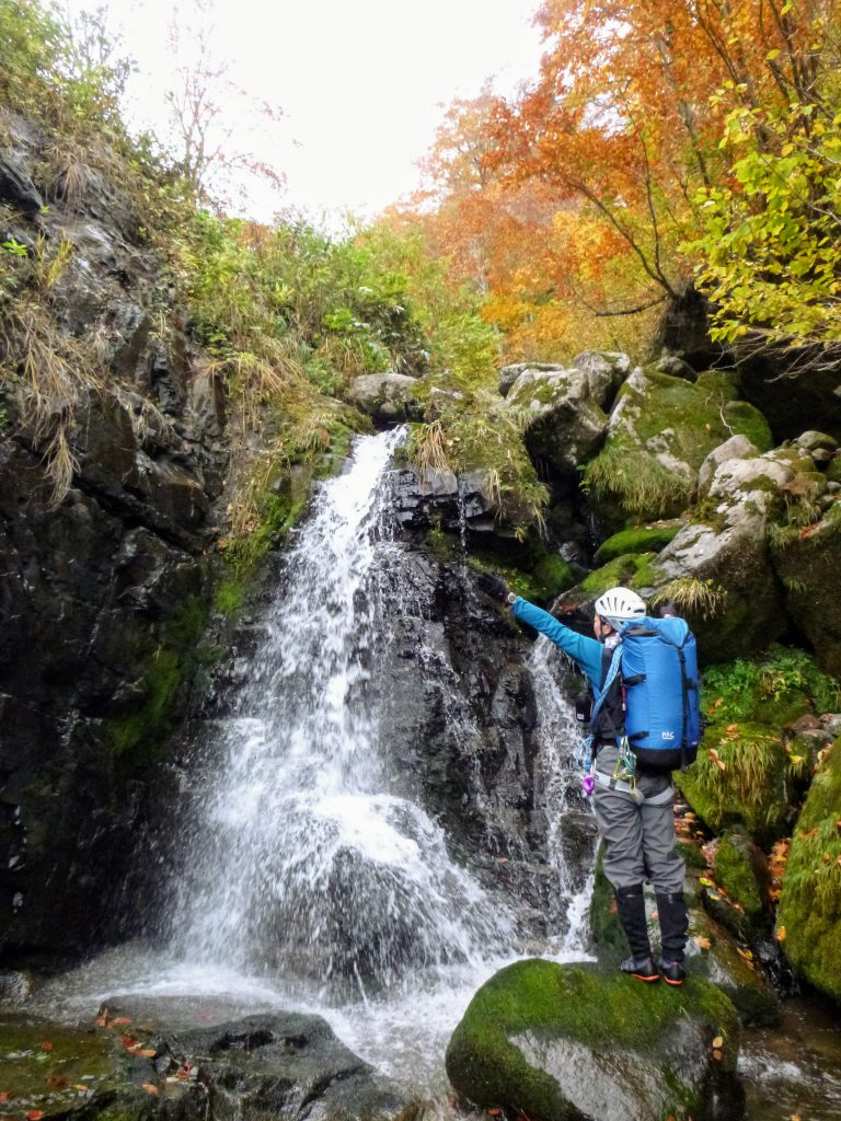 ブナ小屋谷左又の滝 標高約1400m, 6mF