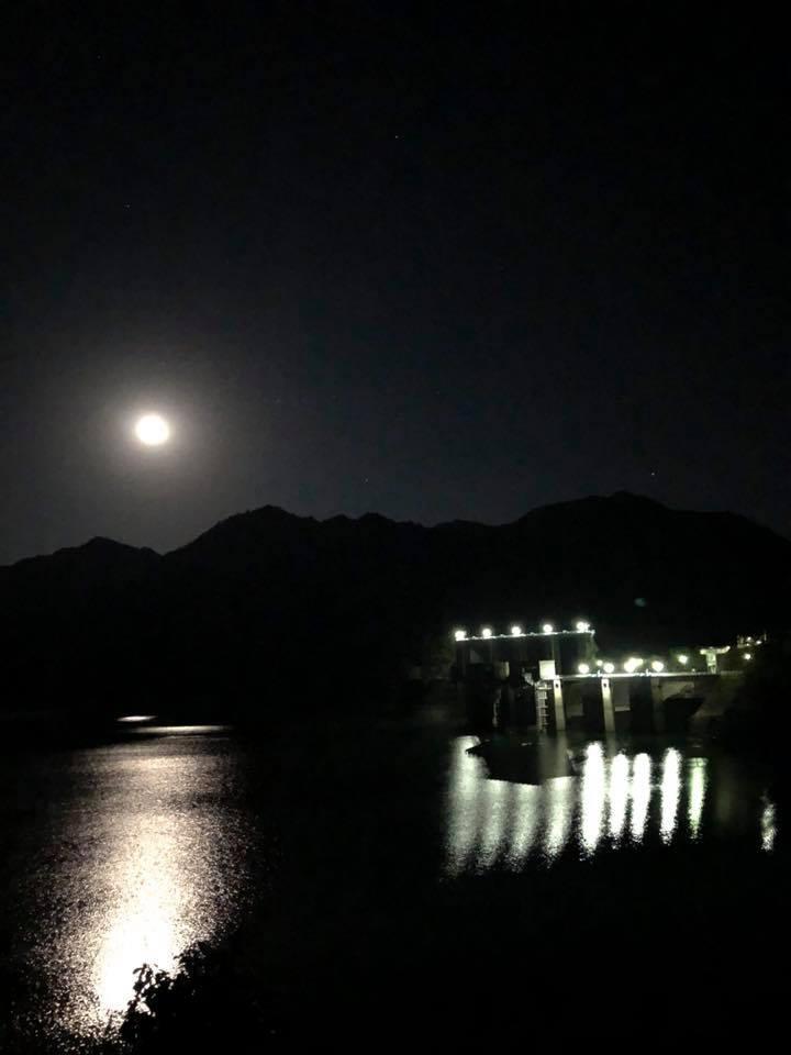 '18/11/25オクノ谷溯行からの湖畔夜歩き