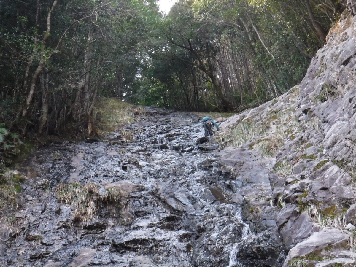 往古川  ホクラ谷  大滝登攀