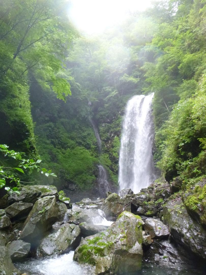蓮 千石谷 五段の滝の最下段の滝